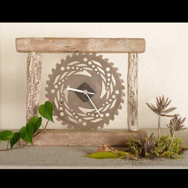 流木の時計-1の画像1枚目