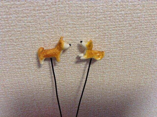 柴犬のピック(2本セット)の画像1枚目