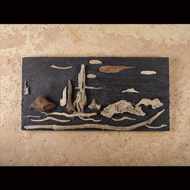 流木で描く山水画(S saiz) #3の画像1枚目