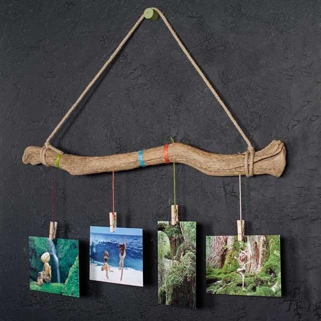 壁掛け流木フォトフレーム、アクセサリー掛け-7の画像1枚目