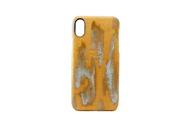 ラスト ゴールド i-Phone用レザーハードカバー iPhone X iPhone8 PLUS対応の画像1枚目