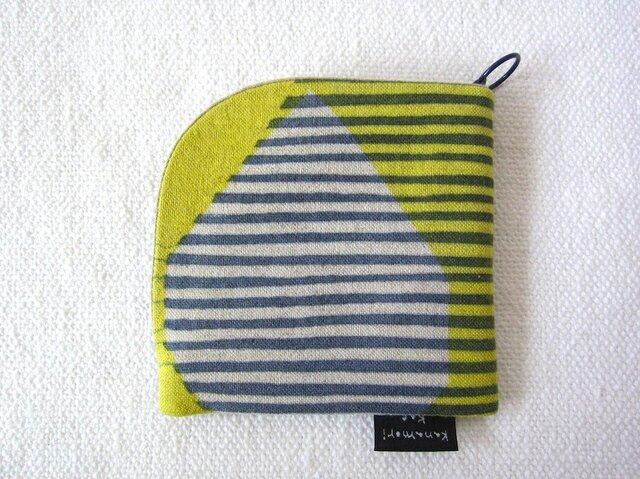 型染め 財布「リボンストライプ」の画像1枚目