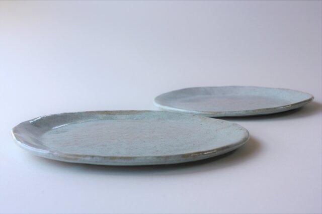 松灰釉オーバル平皿の画像1枚目