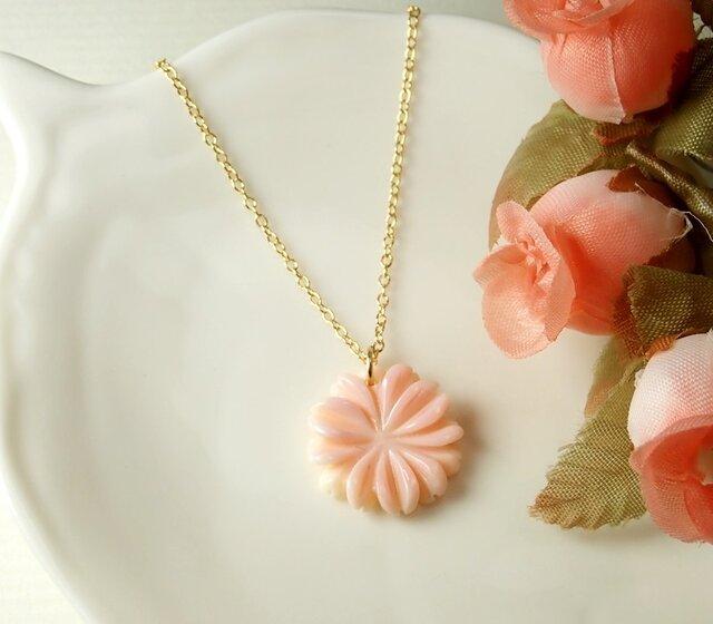*N2*希少高品質クィーンコンクシェルAAA☆マーガレットのネックレスの画像1枚目