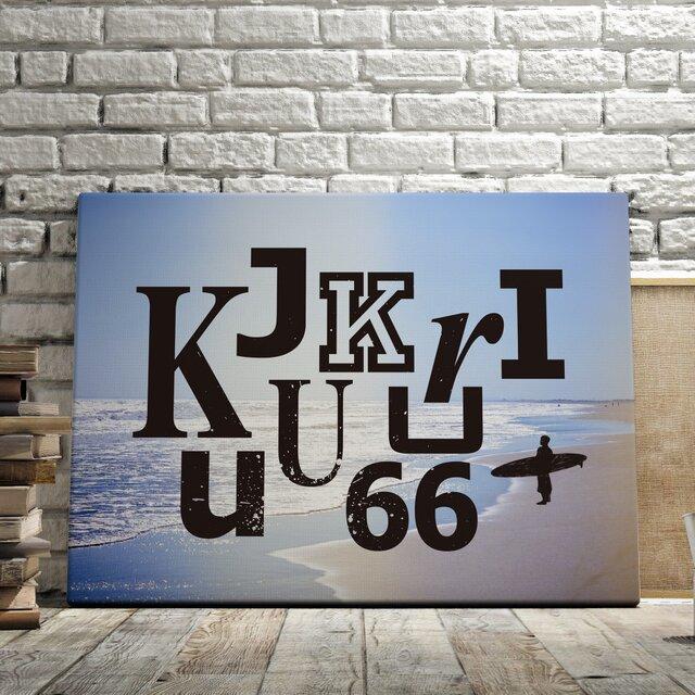 九十九里サーフ(Surfin' Kujukuri)グラフィックアートポスターの画像1枚目