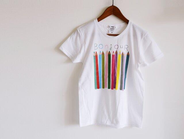 """新作!おとな用 """"色えんぴつ"""" Tシャツ ベーシックタイプ おそろいコーデでおでかけ♪の画像1枚目"""
