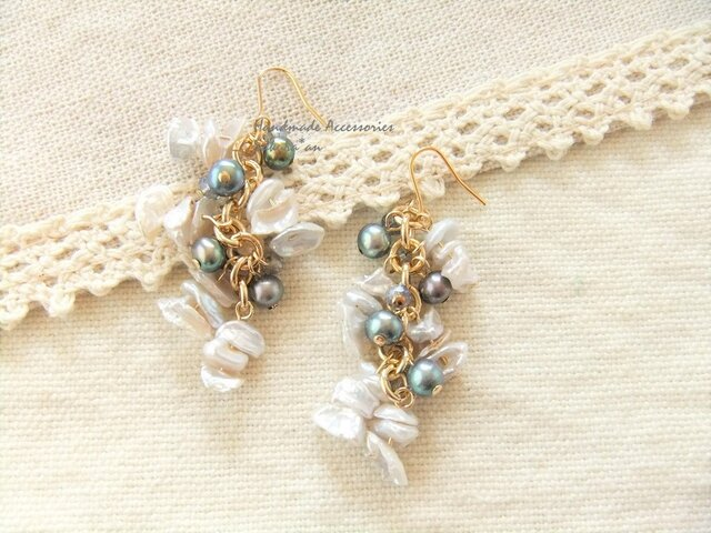 Pierces or Earrings  ケシパール(P0798)の画像1枚目