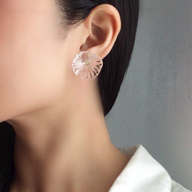 poppy  glass earring/pierce 【ガラスイヤリング】【ガラスピアス】の画像1枚目