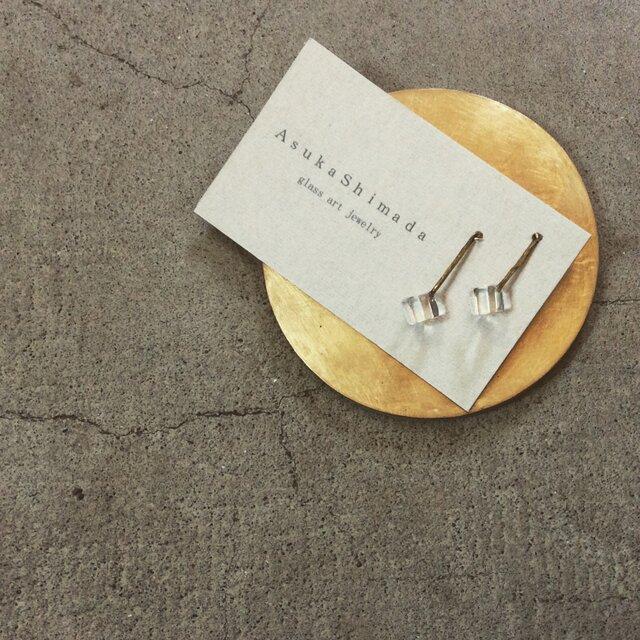pendulum pierce/earring M【ガラスピアス】【ガラスイヤリング】の画像1枚目