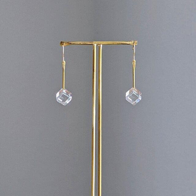 pendulum pierce/earring S【ガラスピアス】【ガラスイヤリング】の画像1枚目