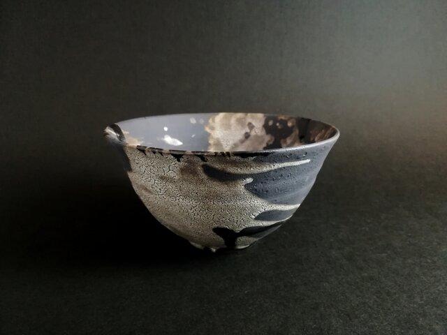 梅華皮流彩飯茶碗Lの画像1枚目