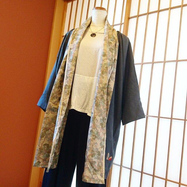 着物でリメイク★バッサリ羽織れる上着の画像1枚目
