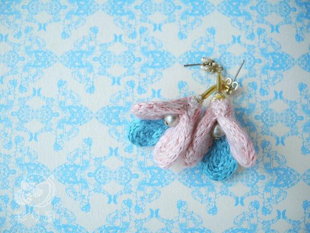 耳飾り【pukupuku】ピンクの画像1枚目