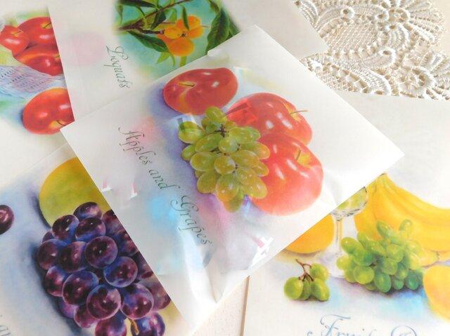 ワックスペーパー平袋3枚セット:果物2の画像1枚目