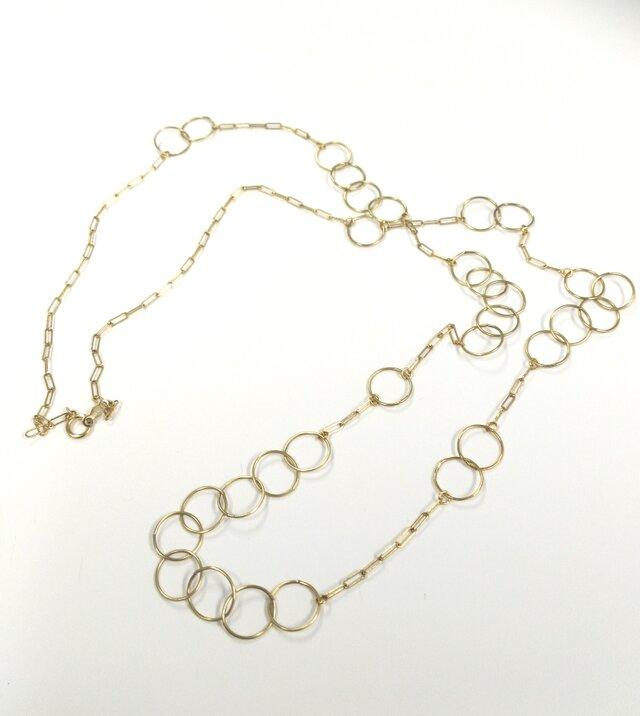 bubble chain necklaceの画像1枚目