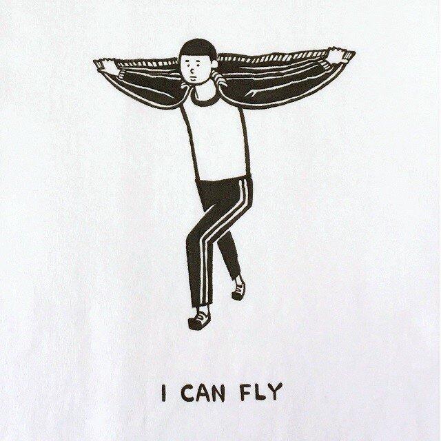 私は飛ぶことができます。 【 Tシャツ 】の画像1枚目