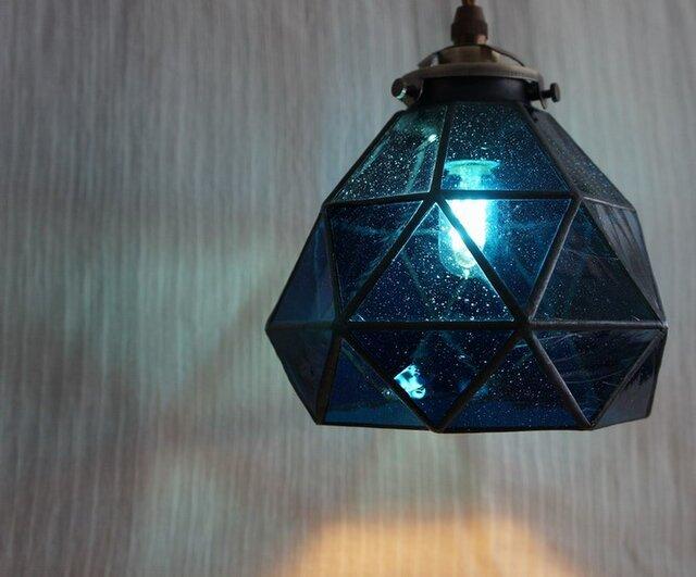 今宵、プラネタリウムで。(青のペンダントランプ1)の画像1枚目
