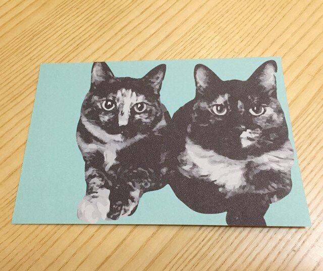 ネコポストカード サビ猫ズの画像1枚目