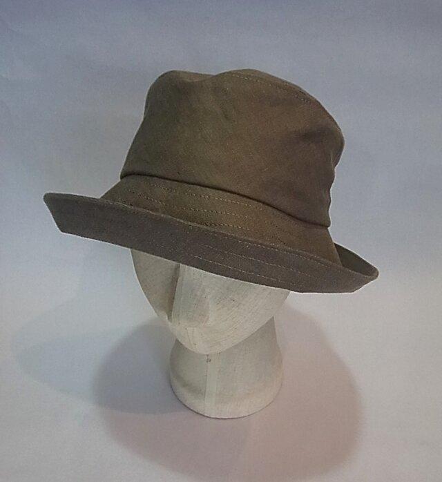 sold uot 麻の帽子の画像1枚目