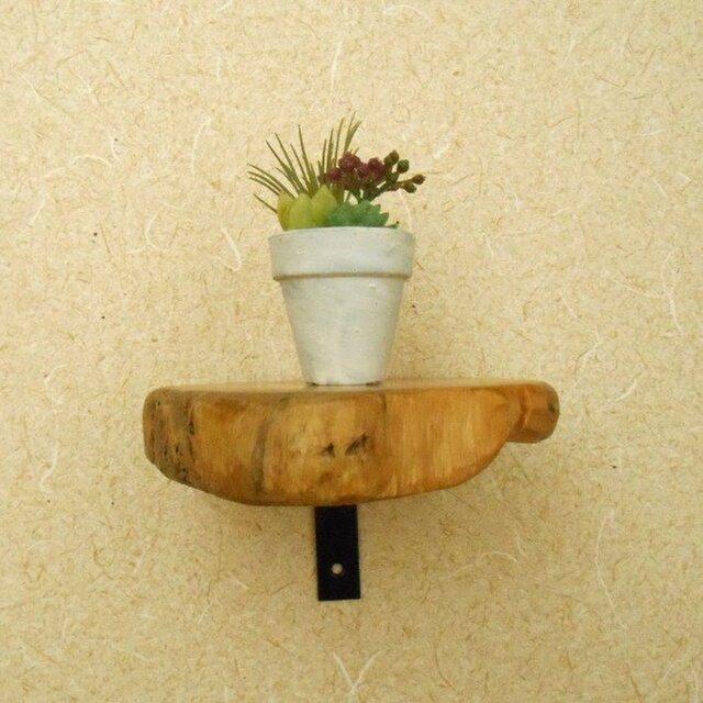 【温泉流木】薄切り丸太のミニラック ウォールラック 壁掛け棚 流木インテリアの画像1枚目