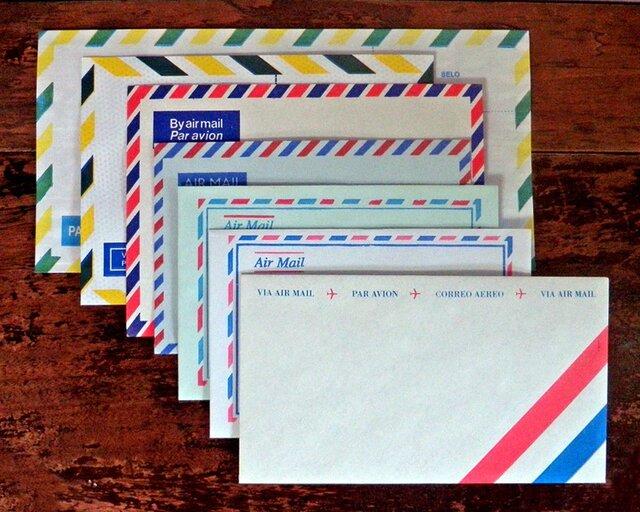 Vintage エアメール封筒セット【小さなおまけ付き♪】 DA-CO077の画像1枚目