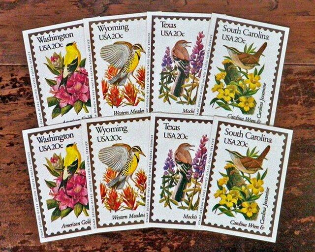 Vintage 鳥切手コレクションカードセット【U.S.A.】DA-CO078の画像1枚目
