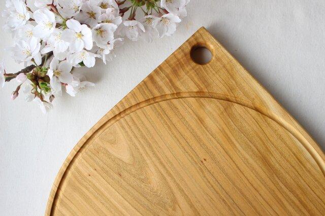 ピザプレート、カッティングボード MARU Φ295/山桜の画像1枚目