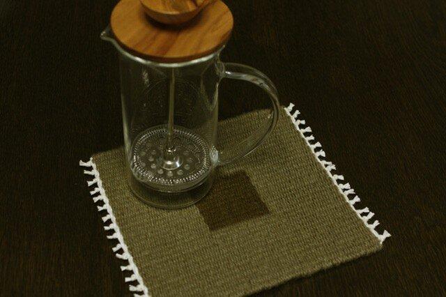 手織り リバーシブルのポットマット(ウール) No.6の画像1枚目