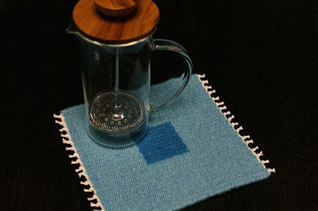 手織り リバーシブルのポットマット(ウール) No.5の画像1枚目