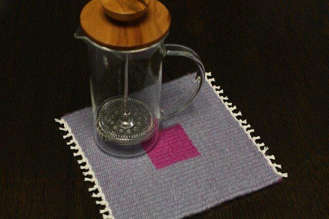 手織り リバーシブルのポットマット(ウール) No.4の画像1枚目
