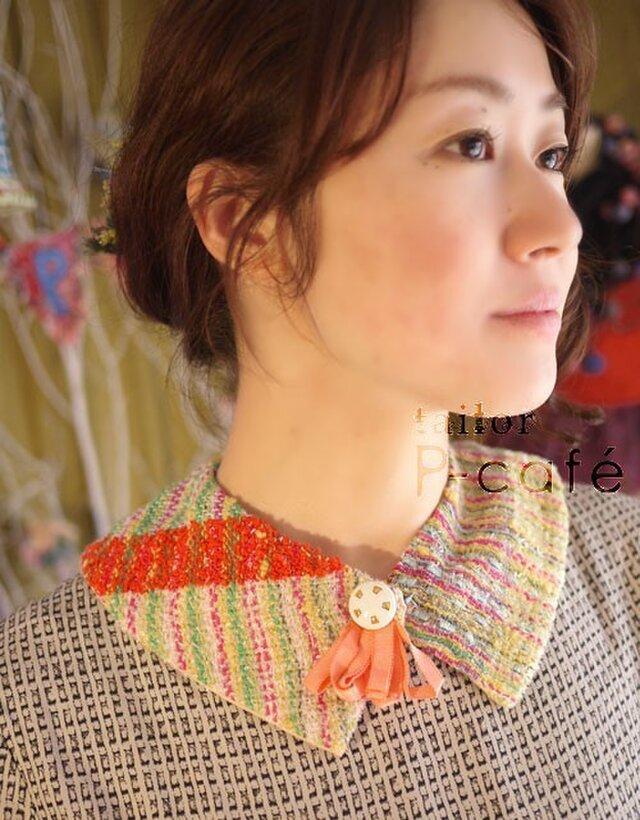 手織り つけ襟の画像1枚目