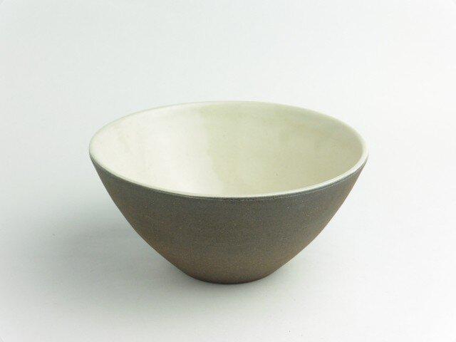 粉引 白黒飯碗(大)の画像1枚目