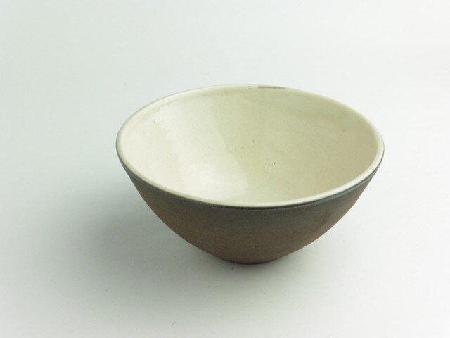 粉引 白黒飯碗(小)の画像1枚目