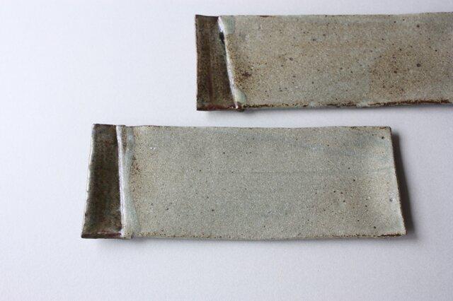 マット灰釉長皿の画像1枚目