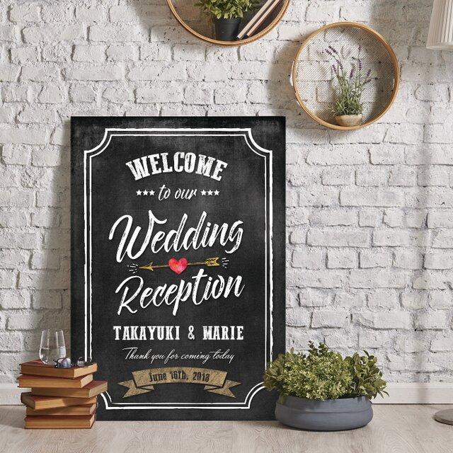 黒板風 アメリカンヴィンテージ★ウェルカムボード結婚式の画像1枚目