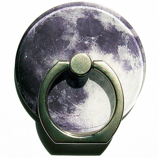 美しい満月のスマホリングの画像1枚目