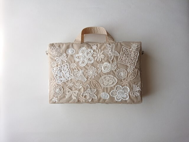 motif lace 2way bagの画像1枚目