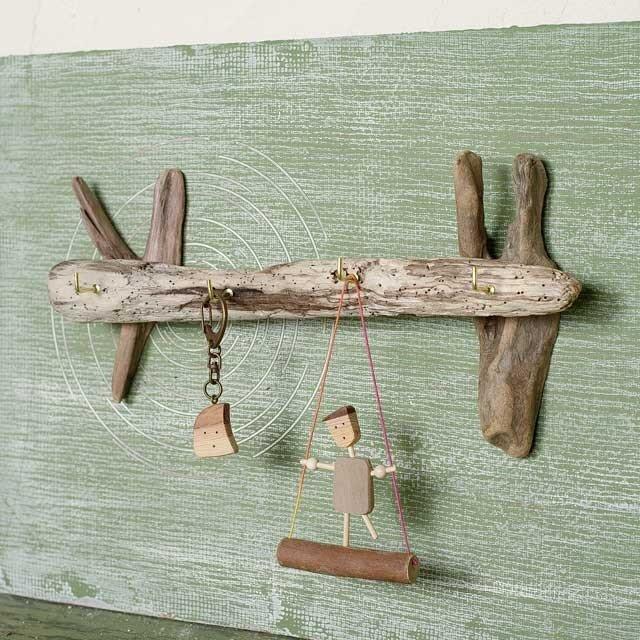 壁掛け流木のキーフック、アクセサリー掛け-4の画像1枚目