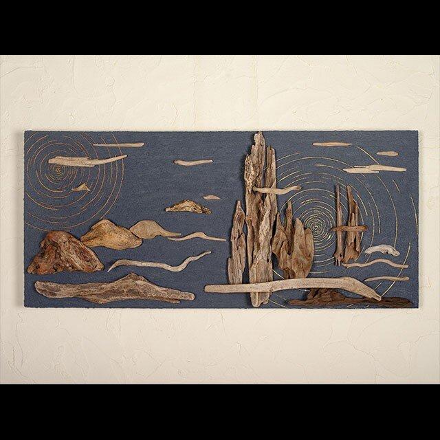 流木で描く山水画(L saiz) #12の画像1枚目