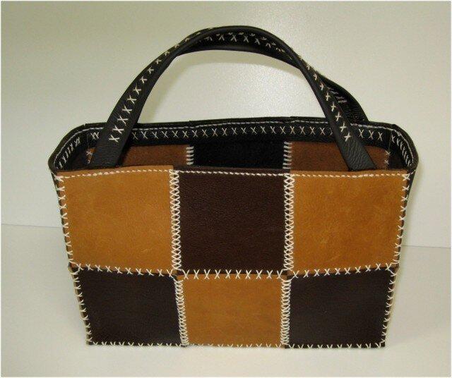 手縫いのクロスステッチのトートバッグの画像1枚目