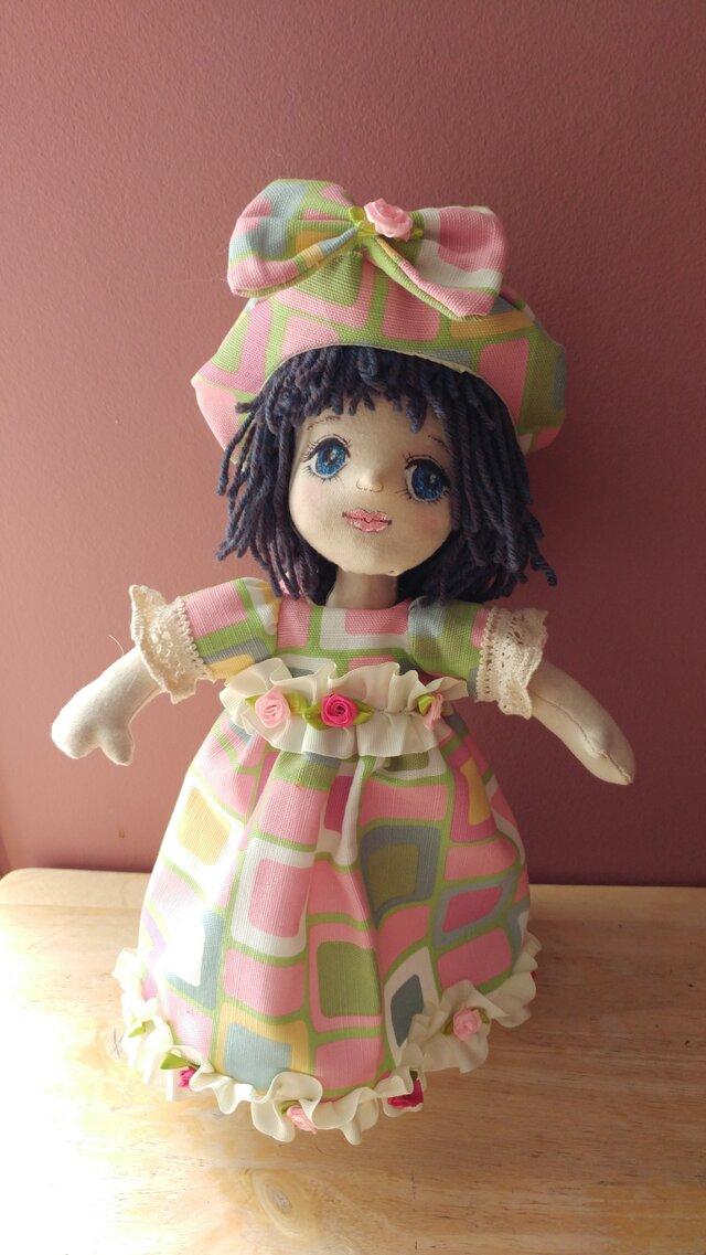 天然素材だけを使ったファブリックドール、100%ウールが詰まった約35cmの人形。ハンドメイドで抱き心地が違います❢の画像1枚目
