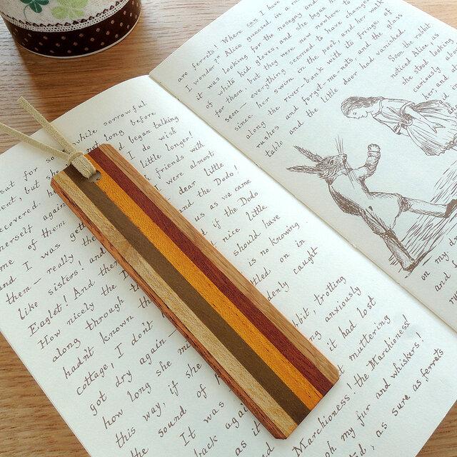 寄木の木製しおり ~Palette~ Ⅱの画像1枚目