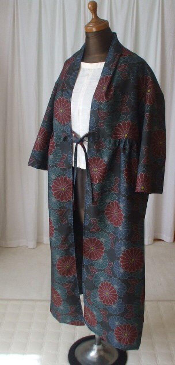 大島紬からのカーディガンコート 絹の画像1枚目