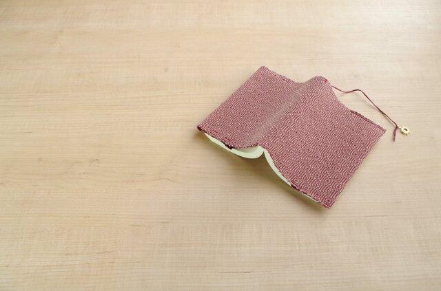 手織りブックカバー(文庫)ベージュの画像1枚目