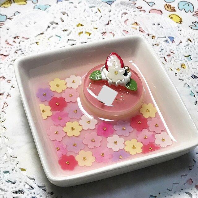 名前入り☆colorful flower carpetアクセサリートレイの画像1枚目
