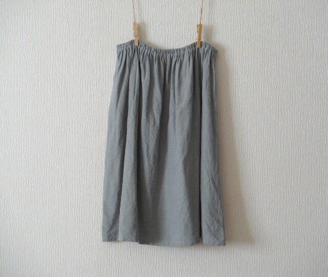 リネンのペチコート 灰色 の画像1枚目