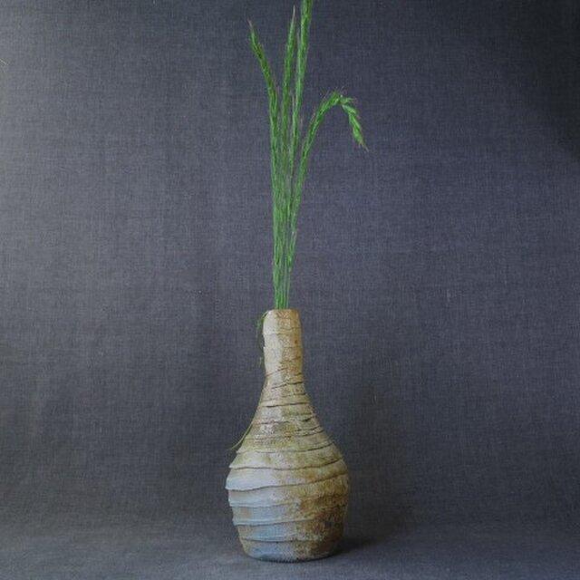 【送料無料】花器(63) しのぎ花器 陶芸家オリジナル陶器の画像1枚目