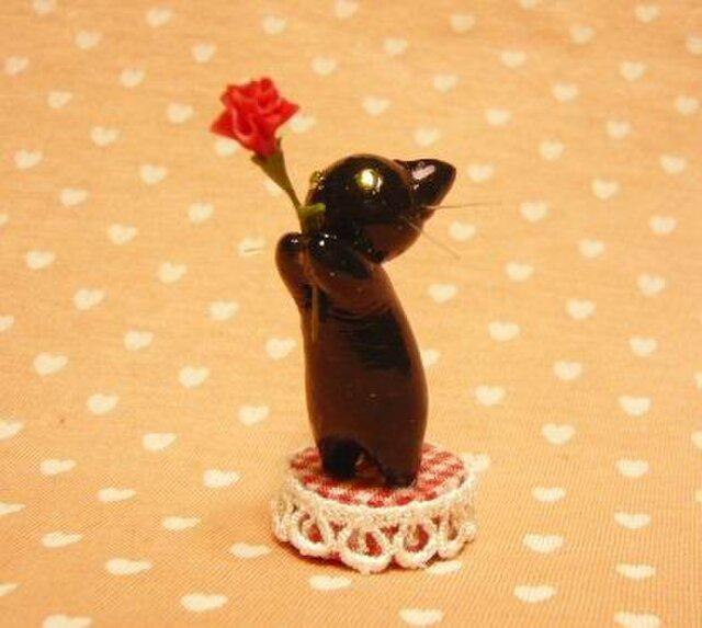にゃんこのしっぽ〇母の日〇カーネーション〇黒猫2の画像1枚目