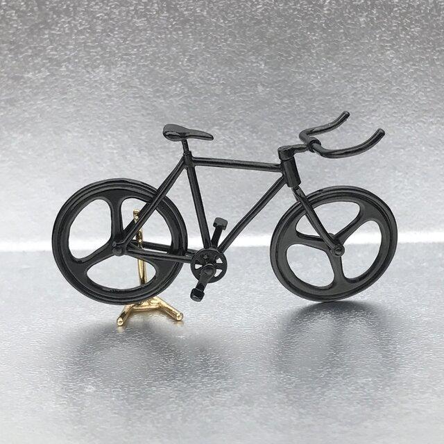 自転車ペンダント ブルホーンハンドル - Blackの画像1枚目