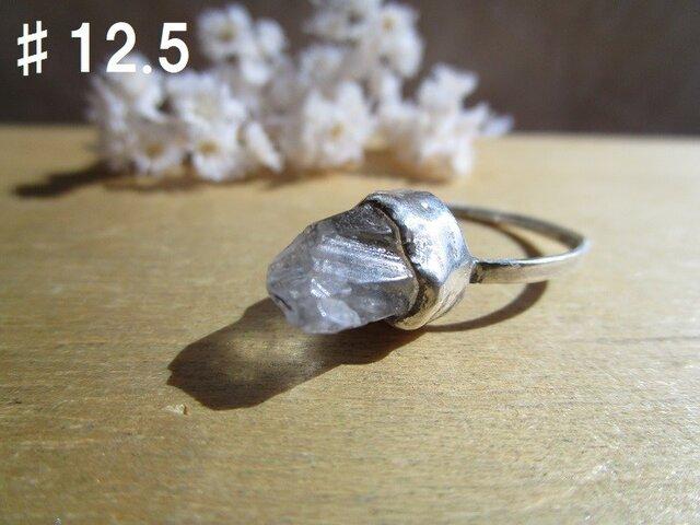 silver 水晶 ポイント リングの画像1枚目